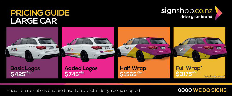 Vehicle branding, decals and Wraps | Signshop co nz